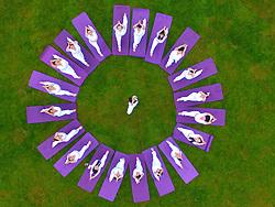 June 21, 2017 - Zunyi, China - Yoga fans practise yoga on the occasion of the International Yoga Day in Zunyi, Yuqing County, southwest China's Guizhou Province. (Credit Image: © He Chunyu/Xinhua via ZUMA Wire)