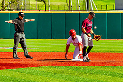 20 May 2019: Tim Winningham calls a runner safe at 2nd.  Missouri Valley Conference Baseball Tournament - Southern Illinois Salukis v Illinois State Redbirds at Duffy Bass Field in Normal IL<br /> <br /> #MVCSPORTS