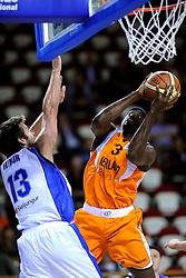 13-09-2008 BASKETBAL: NEDERLAND - IJSLAND: ALMERE<br /> De Nederlandse basketballers hebben hun tweede zege geboekt voor het ek van 2009 in de B-divisie. Oranje versloeg IJsland in almere met 84-68 / Patrick Hilliman<br /> ©2008-WWW.FOTOHOOGENDOORN.NL