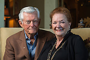 DENVER, CO - SEPTEMBER 22: John and Carol Saeman pose for a portrait at their home in Cherry Creek on September 22, 2016, in Denver, Colorado. (Photo by Daniel Petty/Catholic Foundation Alliance)