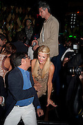 PARIS HILTON; BOB COLLACELLO, After party for hosted by Alex Dellal, Stavros Niarchos, and Vito Schnabel celebrate Dom PŽrignon Luminous. W Hotel Miami Beach. Opening of Miami Art Basel 2011, Miami Beach. 1 December 2011. .<br /> PARIS HILTON; BOB COLLACELLO, After party for hosted by Alex Dellal, Stavros Niarchos, and Vito Schnabel celebrate Dom Pérignon Luminous. W Hotel Miami Beach. Opening of Miami Art Basel 2011, Miami Beach. 1 December 2011. .