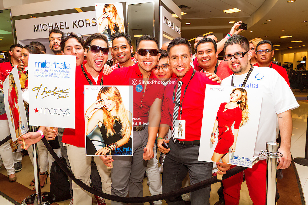 RANCHO CUCAMONGA, CA - MARCH 28: Fans from all over wait for the launch of the Thalia Sodi Collection at Macy's Victoria Gardens in Rancho Cucamonga, California. 2015 Mar 28. Byline, credit, TV usage, web usage or linkback must read SILVEXPHOTO.COM. Failure to byline correctly will incur double the agreed fee. Tel: +1 714 504 6870.
