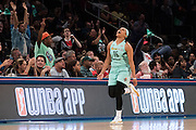 Brittany Boyd #15 of the New York Liberty reacts after a made basket against the Phoenix Mercury during the second round of the W.N.B.A. playoffs at Madison Square Garden in New York on September 24, 2016. (Cooper Neill for The New York Times)