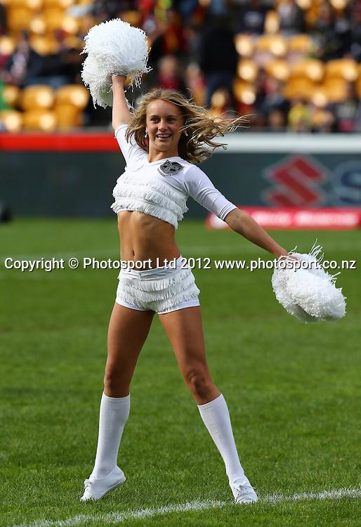 Warriors Cheerleaders during the NRL game, Vodafone Warriors v Cronulla Sharks, Mt Smart Stadium, Auckland, Sunday 5 August  2012. Photo: Simon Watts /photosport.co.nz