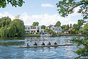 Maidenhead. Berkshire. United Kingdom. General view, JW4X at the start of their heat on the course of the 2017 Maidenhead Junior Regatta  River Thames. <br /> <br /> [©Peter SPURRIER/Intersport Images] Sunday. 14.05.2017