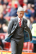 Charlton Athletic manager Jose Riga looks on during the Sky Bet Championship match at The Valley, London<br /> Picture by Andrew Tobin/Focus Images Ltd +44 7710 761829<br /> 05/04/2014
