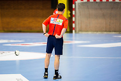 Referee during handball match between Women national teams of Slovenia and Croatia in Round #5 of Qualifications for Women's EHF EURO 2016 Championship in Sweden, on June 1, 2016 in Arena Golovec, Celje, Slovenia. Photo by Ziga Zupan / Sportida