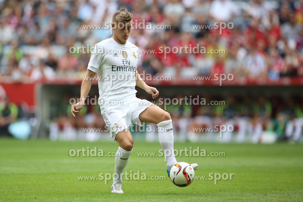 04.08.2015, Allianz Arena, Muenchen, GER, AUDI CUP, Real Madrid vs Tottenham Hotspur, im Bild Toni Kross (Real Madrid CF #8) // during the 2015 Audi Cup Match between Real Madrid and Tottenham Hotspur at the Allianz Arena in Muenchen, Germany on 2015/08/04. EXPA Pictures &copy; 2015, PhotoCredit: EXPA/ Eibner-Pressefoto/ Sch&uuml;ler<br /> <br /> *****ATTENTION - OUT of GER*****