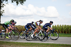 Chantal Blaak (NED) Sara Penton (SWE) and Riejanne Markus (NED) in the break on the final lap at Boels Ladies Tour 2018 - Stage 3, a 129km road race in Gennep, Netherlands on August 30, 2018. Photo by Sean Robinson/velofocus.com