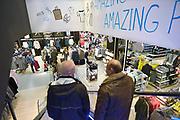 Nederland, Arnhem, 16-10-2016 Primark vestiging, filiaal met een grote belangstelling van publiek, klanten. De modeketen is gevestigd in het centrum en moet een impuls voor de binnenstad betekenen. De winkel zit in het vroegere pand van de Bijenkorf. Foto: Flip Franssen Arnhem locates the largest Primark shop of The Netherlands. Primark is a so called budget clothing store that makes and sells clothes as cheaply as possible. For a few euros you can already buy clothes at the store. The Irish fashion chain is sometimes criticized for the working conditions in which the clothes are made, and the durability of the garments.Foto: Flip Franssen
