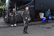 Portsmouth players arriving at the Kassam Stadium ahead of the Leasing.com EFL Trophy match between Oxford United and Portsmouth at the Kassam Stadium, Oxford, England on 8 October 2019.