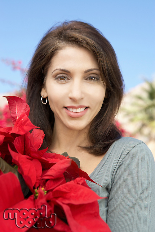 Woman with a Poinsettia