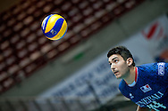 Nicolas Le Goff from France watches the ball during the 2013 CEV VELUX Volleyball European Championship match between France and Turkey at Ergo Arena in Gdansk on September 22, 2013.<br /> <br /> Poland, Gdansk, September 22, 2013<br /> <br /> Picture also available in RAW (NEF) or TIFF format on special request.<br /> <br /> For editorial use only. Any commercial or promotional use requires permission.<br /> <br /> Mandatory credit:<br /> Photo by © Adam Nurkiewicz / Mediasport