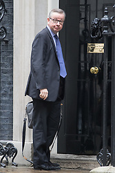 Downing Street, London, June 14th 2016. Justice Secretary Michael Gove arrives at 10 Downing Street to attend the weekly cabinet meeting.