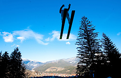 A ski-jumper competes during FIS Continental Cup Ski Jumping Ladies in Ljubno, on January 23, 2011, at K-85 in Ljubno ob Savinji, Slovenia. (Photo By Vid Ponikvar / Sportida.com)