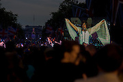Dame Shirley Bassey performs at the Queen's Diamond Jubilee weeks before the Olympics come to London. The UK enjoys a weekend and summer of patriotic fervour as their monarch celebrates 60 years on the throne. Across Britain, flags and Union Jack bunting adorn towns and villages.