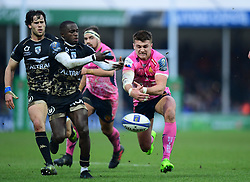 Henry Slade of Exeter Chiefs drops the ball - Mandatory by-line: Alex Davidson/JMP - 13/01/2018 - RUGBY - Sandy Park Stadium - Exeter, England - Exeter Chiefs v Montpellier - European Rugby Champions Cup