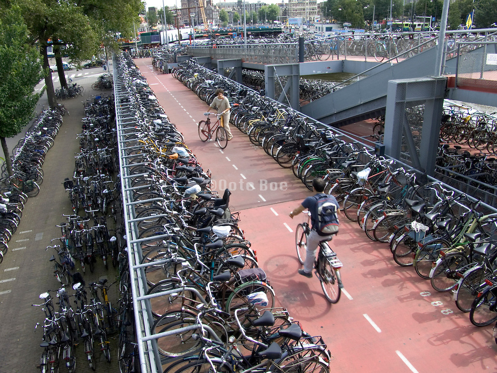 Amsterdam Grand Central Station parking garage for bicycles