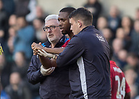 Football - 2016 / 2017 FA Cup - Fifth Round: Millwall vs. Leicester City <br /> <br /> Molla Wague of Leicester City walks off with Leicester medical staff supporting his injured arm at The Den<br /> <br /> COLORSPORT/DANIEL BEARHAM