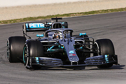 February 19, 2019 - Barcelona, Barcelona, Spain - Lewis Hamilton of Great Britain with 44 Mercedes AMG Petronas Motorsport W10 in action during the Formula 1 2019 Pre-Season Tests at Circuit de Barcelona - Catalunya in Montmelo, Spain on February 19. (Credit Image: © Xavier Bonilla/NurPhoto via ZUMA Press)