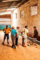Jogo de bocha. Barra Bonita, Santa Catarina, Brasil. / <br /> Game of bocce. Barra Bonita, Santa Catarina, Brazil.