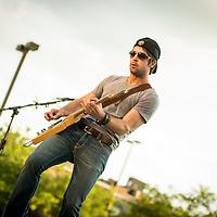 Chris Cavanaugh performs at Decatur Celebration, Decatur, Illinois, August 4, 2013. Photo: George Strohl