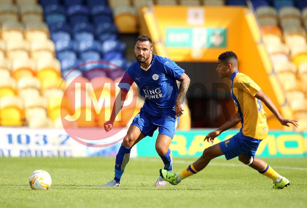 Leicester City's Marcin Wasilewski passes the ball - Mandatory by-line: Robbie Stephenson/JMP - 25/07/2015 - SPORT - FOOTBALL - Mansfield,England - Field Mill - Mansfield Town v Leicester City - Pre-Season Friendly