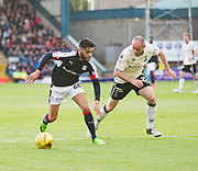 Dundee&rsquo;s Faissal El Bakhtaoui runs at Inverness&rsquo; David Raven - Dundee v Inverness Caledonian Thistle in the Ladbrokes Scottish Premiership at Dens Park, Dundee, Photo: David Young<br /> <br />  - &copy; David Young - www.davidyoungphoto.co.uk - email: davidyoungphoto@gmail.com