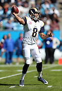 St. Louis Rams quarterback Sam Bradford (8) throws a completed pass on the Rams second drive during the NFL week 7 football game against the Carolina Panthers on Sunday, Oct. 20, 2013 in Charlotte, N.C.. The Panthers won the game 30-15. ©Paul Anthony Spinelli