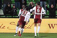Joie Metz - Modibo MAIGAC - 04.04.2015 - Metz / Toulouse - 31eme journee de Ligue 1 <br />Photo : Fred Marvaux / Icon Sport