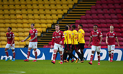 Bristol City cut dejected figures after conceding a goal - Mandatory by-line: Robbie Stephenson/JMP - 06/01/2018 - FOOTBALL - Vicarage Road - Watford, England - Watford v Bristol City - Emirates FA Cup third round proper