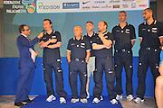 DESCRIZIONE : Monza Vila Reale Italia Basket Hall of Fame<br /> GIOCATORE : Simone Pianigiani Luca dal Monte Francesco Cuzzolin Andrea capobianco Riccardo Pittis<br /> SQUADRA : FIP Federazione Italiana Pallacanestro <br /> EVENTO : Italia Basket Hall of Fame<br /> GARA : <br /> DATA : 29/06/2010<br /> CATEGORIA : Premiazione<br /> SPORT : Pallacanestro <br /> AUTORE : Agenzia Ciamillo-Castoria/M.Gregolin