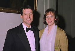 MR & MRS SEBASTIAN COE, he is the former Olympic champion and former MP  at a dinner in London on 2nd October 1997.MBW 24