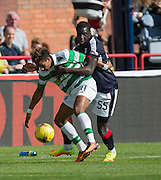 Celtic&rsquo;s Scott Sinclair and Dundee&rsquo;s Kevin Gomis - Dundee v Celtic in the Ladbrokes Scottish Premiership at Dens Park, Dundee. Photo: David Young<br /> <br />  - &copy; David Young - www.davidyoungphoto.co.uk - email: davidyoungphoto@gmail.com