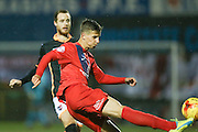 York City defender, on loan from Newcastle United, Lubomir Satka  during the Sky Bet League 2 match between York City and Exeter City at Bootham Crescent, York, England on 16 February 2016. Photo by Simon Davies.