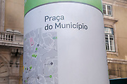 Lisbon Town Hall, Camara Municipal de Lisboa in Praca do Municipio, (Municipality square), Lisbon, Portugal.