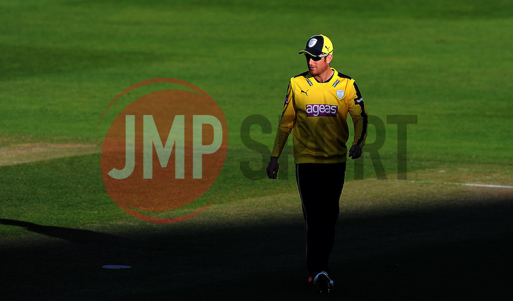 Hampshire's Liam Dawson - Photo mandatory by-line: Harry Trump/JMP - Mobile: 07966 386802 - 05/06/15 - SPORT - CRICKET - Somerset v Hampshire - The County Ground, Taunton, England.