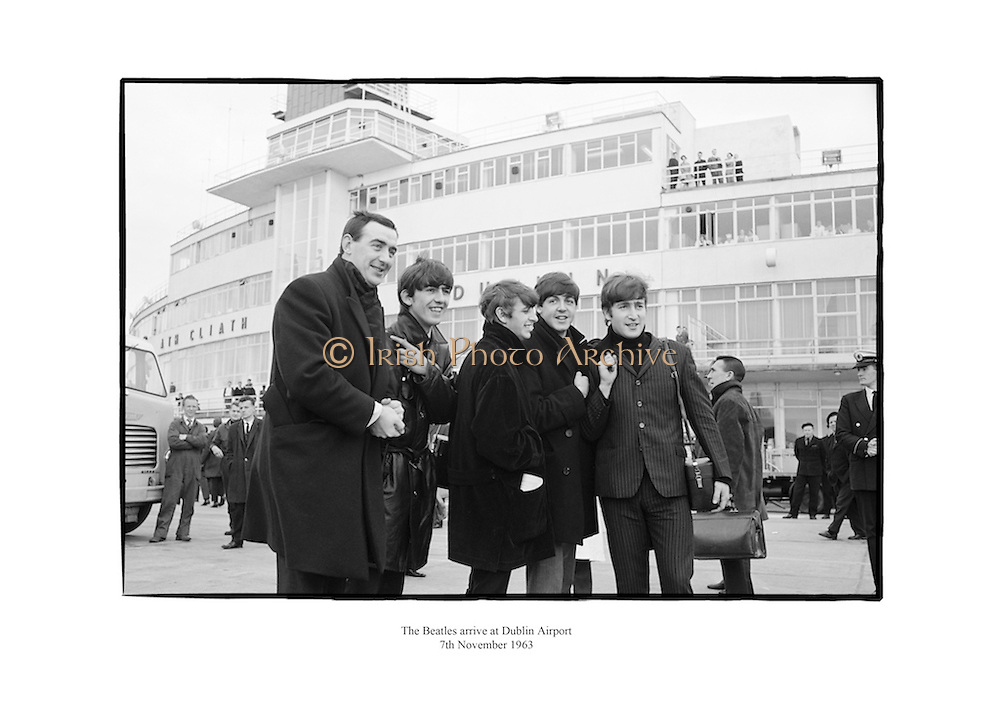 The Beatles at Dublin Airport.<br /> <br /> 7th November 1963<br /> 07/11/1963