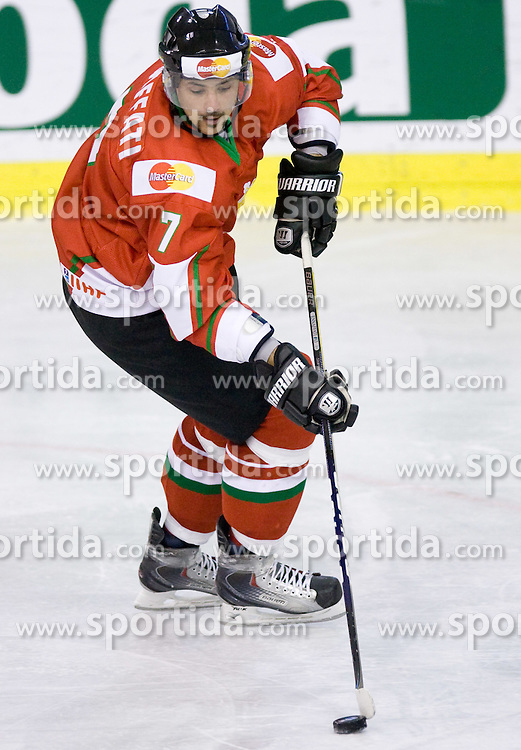 ENNAFFATI Omar of Hungary  at IIHF Ice-hockey World Championships Division I Group B match between National teams of Hungary and Croatia, on April 20, 2010, in Tivoli hall, Ljubljana, Slovenia.  (Photo by Vid Ponikvar / Sportida)