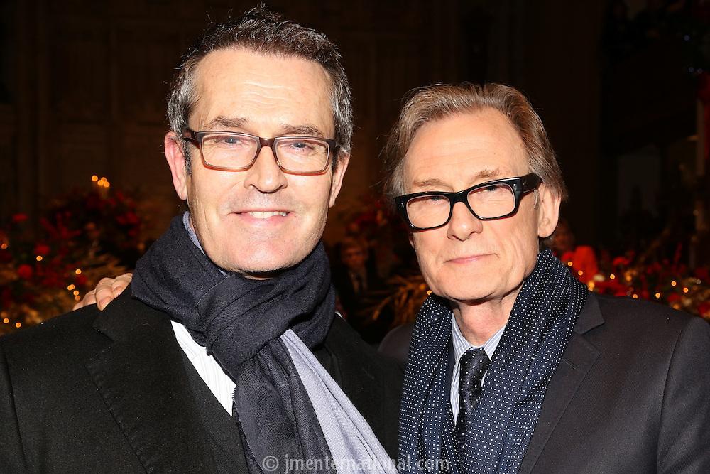 LONDON - December 17:<br /> Bill Nighy and Rupert Everett readers at the Nordoff Robbins Christmas Carol Concert.<br /> 17, 12, 2013.<br /> St Luke's, London, United Kingdom<br /> (Photo  John Marshall/JM Enternational)