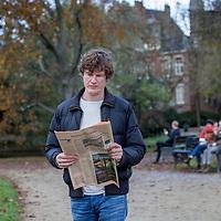 Nederland, Amsterdam, 17 november 2017.<br /> Eric Smit hoofdredacteur van Follow the Money. Follow the Money is een journalistieke beweging met een glashelder doel: waarheidsvinding in dienst van de samenleving. Ze zijn gehuisvest in Vondel CS in Amsterdam.<br /> <br /> Foto: Jean-Pierre Jans
