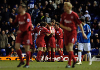 Photo: Glyn Thomas.<br />Birmingham City v Liverpool. The FA Cup. 21/03/2006.<br /> Liverpool players celebrate their second goal.