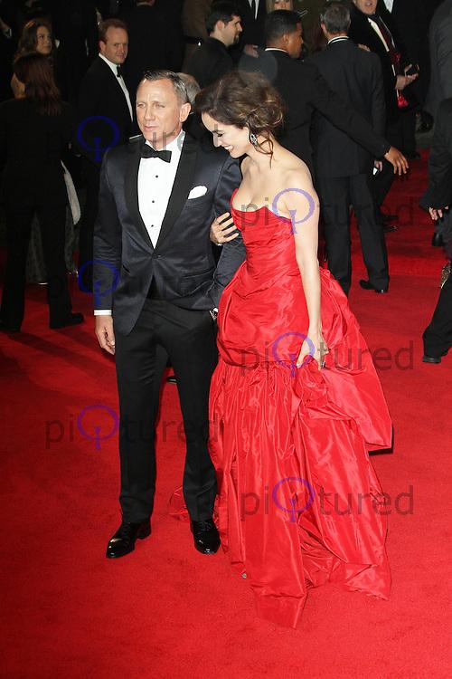 LONDON - OCTOBER 23: Daniel Craig; Berenice Marlohe attended the Royal World Film Premiere of 'Skyfall' at the Royal Albert Hall, London, UK. October 23, 2012. (Photo by Richard Goldschmidt)