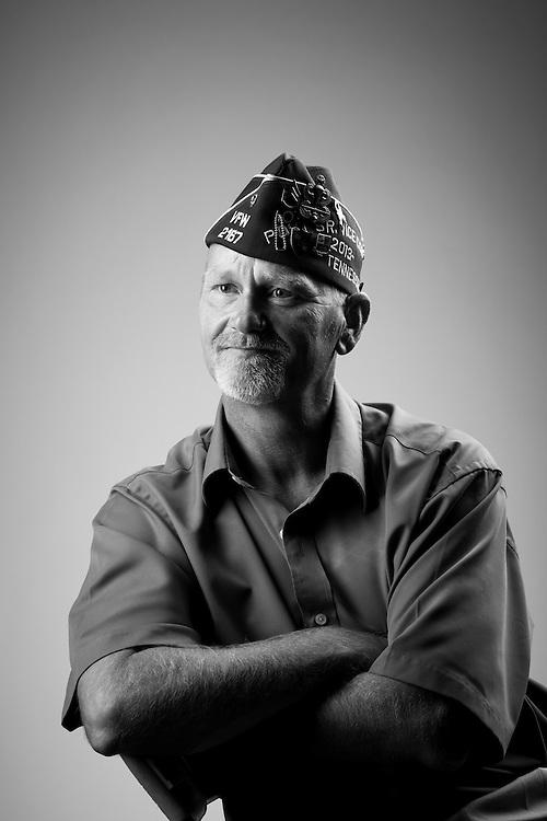 Greg Dodson<br /> Army<br /> E-6<br /> Airborne Ranger<br /> June 7, 1979 - Aug. 1990<br /> Granada, Panama, Korean Defense<br /> <br /> Veterans Portrait Project<br /> St. Louis, MO