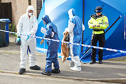© Licensed to London News Pictures.  File pic dated 16/05/2013. BICESTER, UK. Police and forensics at the scene where a two year old girl, who has been identified as 20-month-old Sarah Dahane, was found dead inside a house yesterday morning (Thursday). . Photo credit: Cliff Hide/LNP