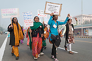 "23rd Dec. 2012. A group of women affiliated to the ""National Federation of Indian Women"", protest in central New Delhi after news broke of the gang-rape of a young medical student in the Indian capital."