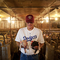 Lindy Hinkelman has been raising pigs for decades on his family farm in Greencreek, Idaho. (Rajah Bose for the New York Times)