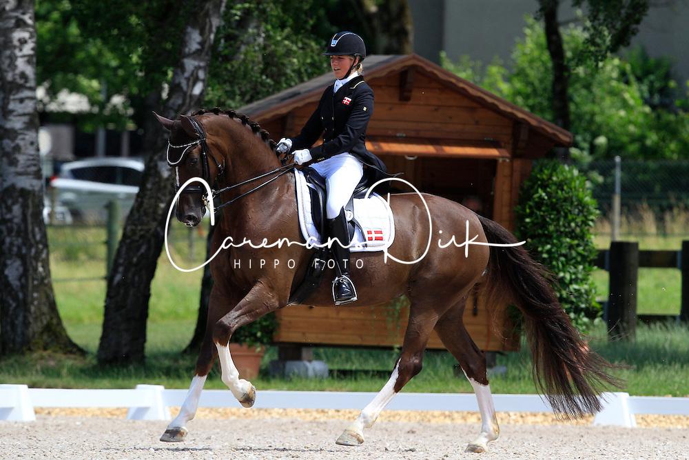 Schmidt Caroline B. ( DEN) - Donna Charian<br /> FEI European Championship Juniors - Bern 2012<br /> &copy; Hippo Foto - Leanjo de Koster