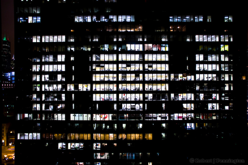 Office building after hours.