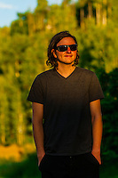 Young man, Snowmass Village (Aspen), Colorado USA.